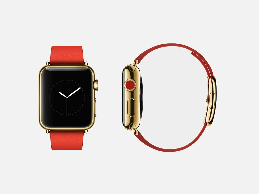 Apple watch gold red